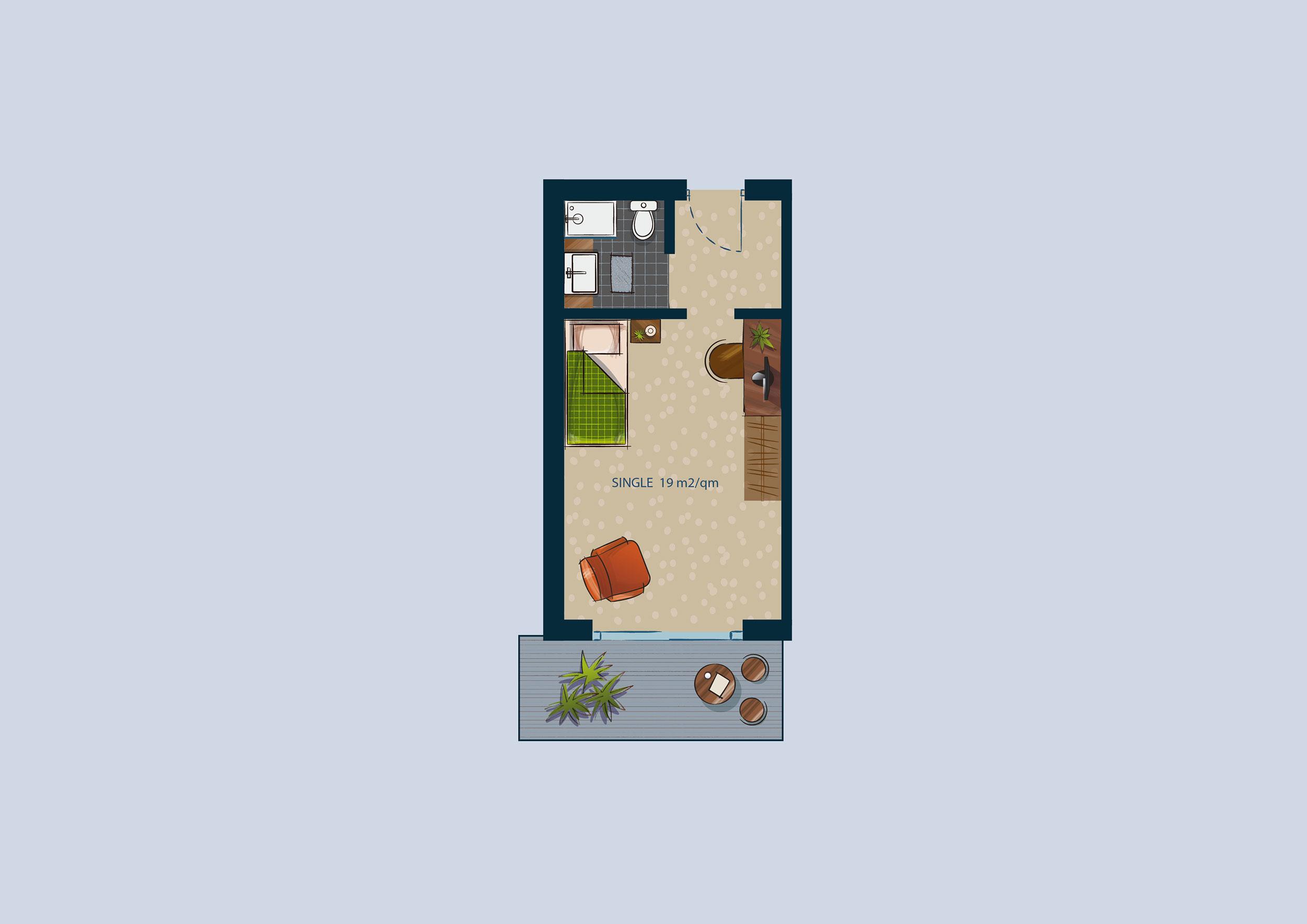 Hotelzimmer mit traditioneller moderner und stilvoller for Hotel badezimmer grundriss